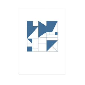 Postkarte Geometrisch blau - Kleinwaren / von Laufenberg