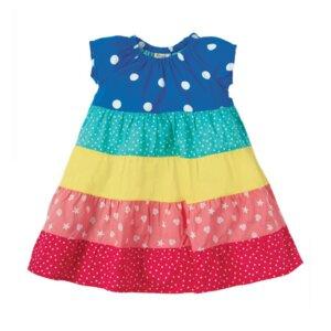 Regenbogen Mädchen Sommerkleid Dorothy - Frugi