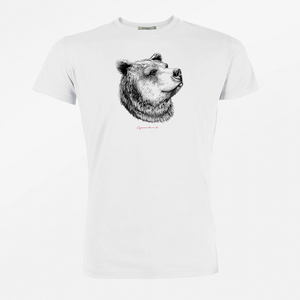 T-Shirt Guide Animal Bear Face  - GreenBomb