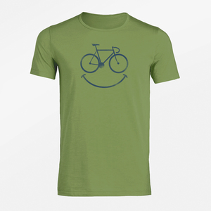 T-Shirt Adores Slub Bike Smile - GreenBomb