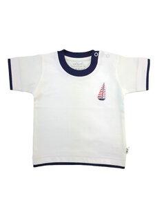 Baby T-Shirt weiß Stickerei Bio Baumwolle EBi & EBi - EBi & EBi