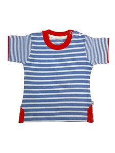 Jungen T-Shirt blau weiß Bio Baumwolle EBi & EBi - EBi & EBi