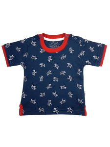 Jungen T-Shirt marine allover Bio Baumwolle EBi & EBi - EBi & EBi