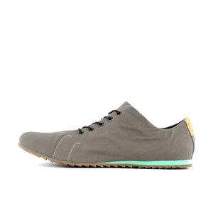 '63 veganer Sneaker aus Bio-Baumwolle Grey / Turquiose - SORBAS