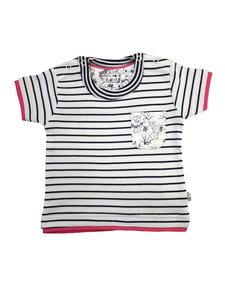 Mädchen T-Shirt marine geringelt Bio Baumwolle EBi & EBi - EBi & EBi