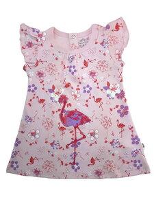 Mädchen Sommer Kleid rosa allover Bio Baumwolle EBi & EBi - EBi & EBi