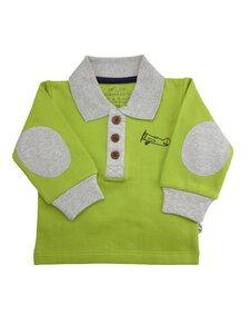 Baby Sweatshirt mit Kragen kiwi Bio Baumwolle EBi & EBi - EBi & EBi