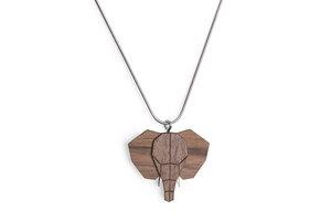 Halskette Elefant | Kette mit Anhänger aus Holz - BeWooden