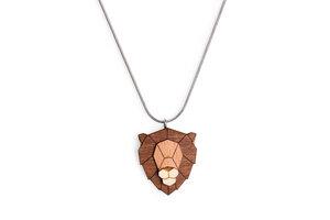 Halskette Löwe | Kette mit Anhänger aus Holz - BeWooden