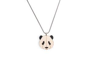 Halskette Panda | Kette mit Anhänger aus Holz | Tier Motiv |Panda - BeWooden
