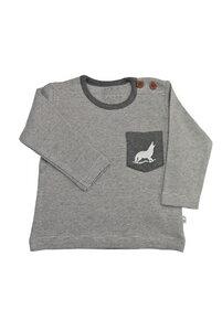 Jungen Langarm Shirt beige melange Bio Baumwolle EBi & EBi - EBi & EBi