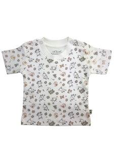 Baby T-Shirt weiß allover Bio Baumwolle EBi & EBi - EBi & EBi