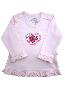 Mädchen Langarm Shirt rosa Bio Baumwolle EBi & EBi - EBi & EBi