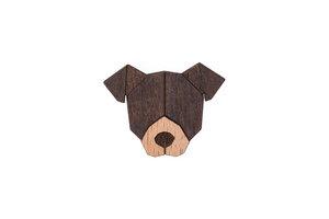"""Brosche aus Holz """"Pit Bull Terrier   Mode Schmuck - BeWooden"""