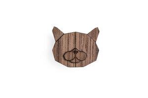 """Brosche aus Holz """"British Cat""""  Mode Schmuck - BeWooden"""