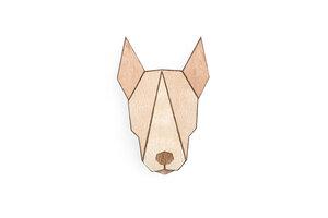 """Brosche aus Holz """"Bull Terrier""""   Mode Schmuck - BeWooden"""