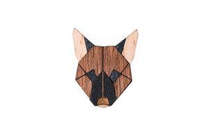 Brosche aus Holz - Deutscher Schäferhund   Mode Schmuck - BeWooden