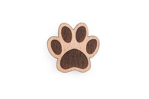 Holzanstecker Paw Dog Brooch - BeWooden