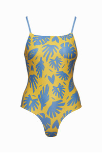 Swimsuit Bingin - Reversible Surf Swimsuit – Paper Cut / Surf Blue - boochen