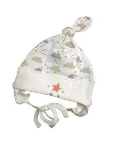 Baby Mütze weiß gemustert Bio Baumwolle EBi & EBi - EBi & EBi
