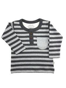 Jungen Langarm Shirt grau anthrazit Fairtrade EBi & EBi - EBi & EBi