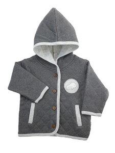 Baby Steppjacke anthrazit Bio Baumwolle EBi & EBi - EBi & EBi