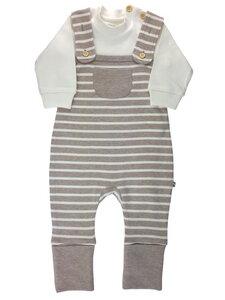 Baby Stramplerset beige melange Bio Baumwolle EBi & EBi - EBi & EBi
