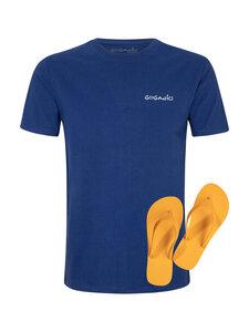 Herren T-Shirt navy blue Beach Set - Goganics