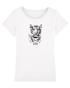 "Bio Damen T-Shirt ""Faith - Tiger""  - Human Family"