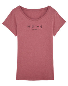 "Bio Damen Sommer T-Shirt ""Faith - Human"" in 6 Farben - Human Family"
