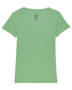 "Damen T-Shirt mit V-Ausschnitt ""Evolution - Stand Against"" in 4 Farben - Human Family"