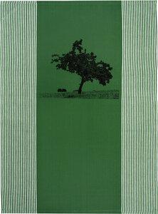 """Bio & Fair-Trade-Geschirrtuch """"Apfelbaum"""" grün - Hirschkind"""