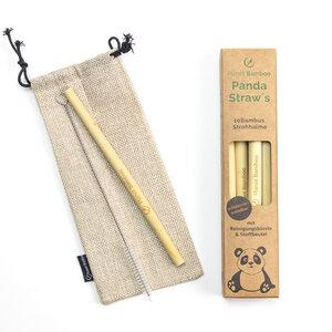 Bambus Strohhalme 10 Stück | inkl. Reinigungsbürste und Stoffbeutel - Planet Bamboo