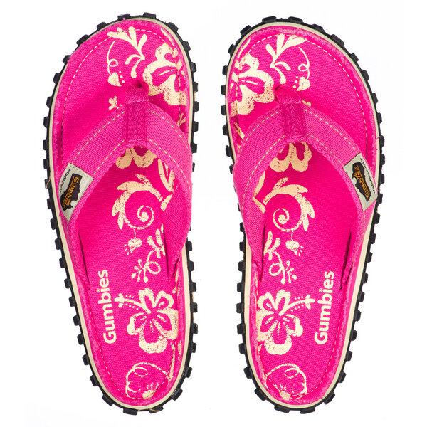 Gumbies Pink Hibiscus – Vegane Sommer-sandalen Für Damen
