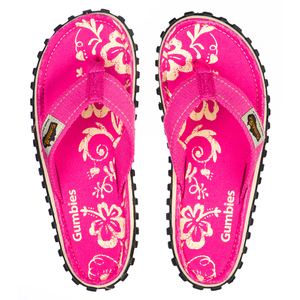 GUMBIES Pink Hibiscus – Vegane Sommer-Sandalen für Damen - GUMBIES