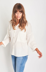Maya Oversized Linen Shirt - bibico