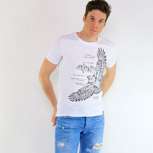 Shirt Eagle aus Biobaumwolle Weiß - Gary Mash