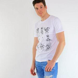 Shirt Sommerfuchs aus Biobaumwolle Weiß - Gary Mash