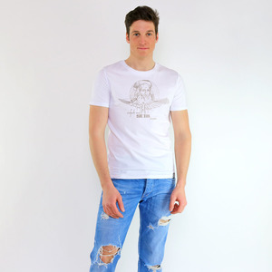 Shirt Da Vinci aus Biobaumwolle Weiß - Gary Mash