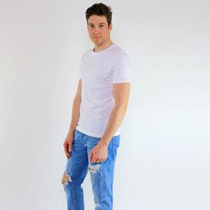 Basic Shirt Weiß aus Biobaumwolle - Gary Mash