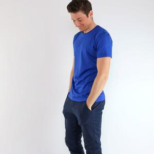 Shirt Basic Royalblau aus Modal®-Mix - Gary Mash
