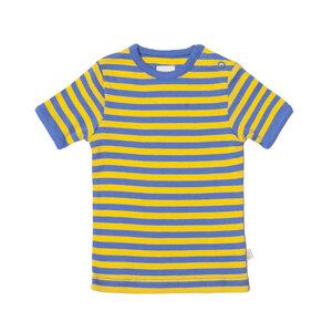 Living Crafts Kurzarmshirt gelb hellblau gestreift 100% Baumwolle( bio)  - Living Crafts
