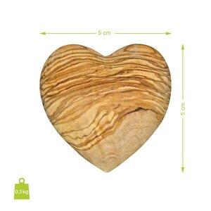 SET aus zwei NATUREHOME Deko-Herzen Handschmeichler aus Olivenholz versch. Größen - NATUREHOME