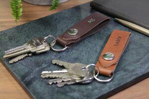 Schlüsselanhänger  ELLON aus pflanzlich gegerbtem Leder - Pack & Smooch