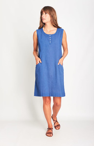 Lana Sleeveless Linen Dress - bibico