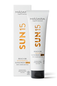 SUN15 BEACH BB Schimmernde Sonnencreme LSF 15 100ml - MADARA