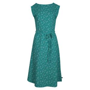 Midi Frauenkleid hexagon grün - TRANQUILLO