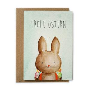 Grußkarte Hase zu Ostern aus Recyclingpapier - TELL ME