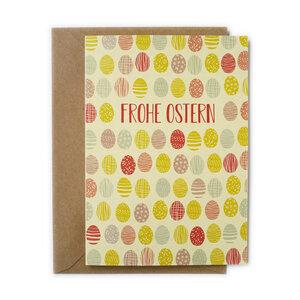 Grußkarte Ostereier aus Recyclingpapier - TELL ME