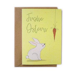 Grußkarte Möhrchen zu Ostern aus Recyclingpapier - TELL ME